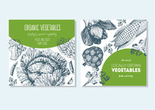 Vegetables Vintage Design Temp...