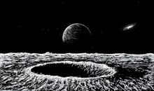 View On Surface Of The Moon