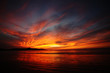 canvas print picture - Dramatic sunset