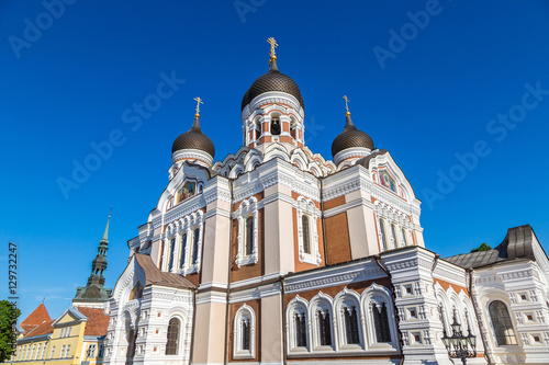 Poster Monument Alexander Nevsky Cathedral in Tallinn