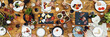 canvas print picture - Group Of People Dining Concept