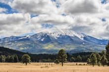 San Francisco Peaks With Snow, Flagstaff, Arizona