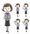 ビジネスウーマン:女性、ポーズ