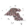 people group shape map Kuwait