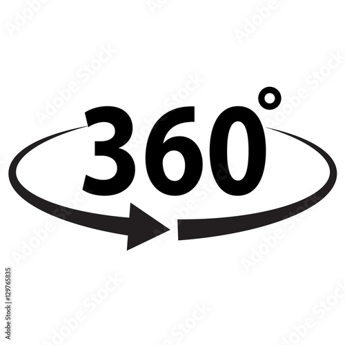Fotografia  Angle 360 degrees sign icon
