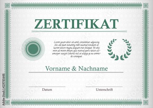 Valokuva  Zertifikat im Retro-Design