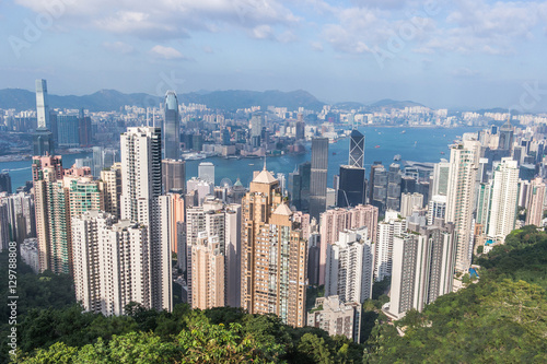 Hong Kong view from Victoria Peak Poster