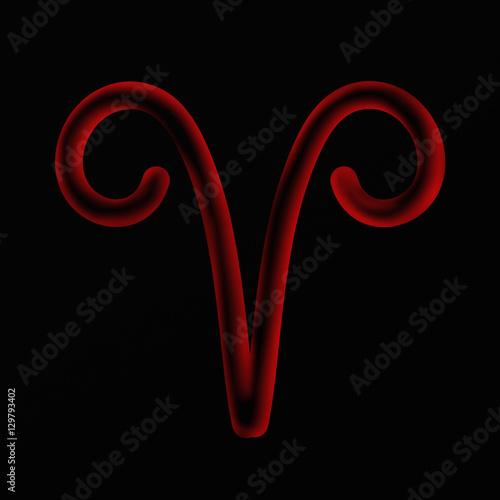 Foto auf Gartenposter Klassische Abstraktion Simple zodiac sign - Aries