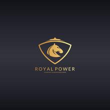 Royal Power. Horse Logotype
