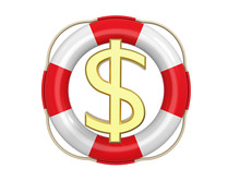 American Dollar With Lifebuoy, 3d Rendering