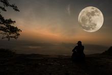 Beautiful Scenery - Woman Sitt...
