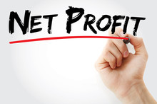 Hand Writing Net Profit With Marker, Concept Background