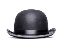 Bowler Hat On A White Background.Front View