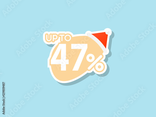 Poster  offers 47% discount for Christmas