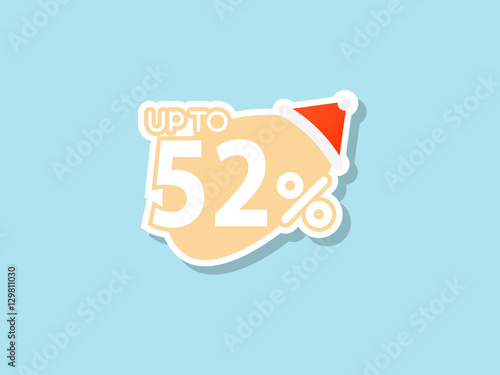 Poster  offers 52% discount for Christmas
