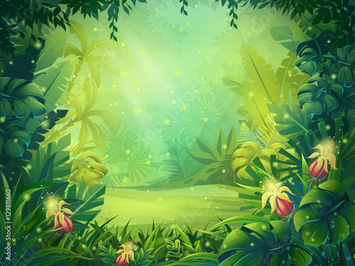 Vector Cartoon Illustration Of Background Morning
