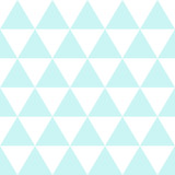 Blue White Triangle Background. Vector Illustration. Christmas Seamless. - 129813618