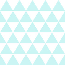 Blue White Triangle Background. Vector Illustration. Christmas Seamless.