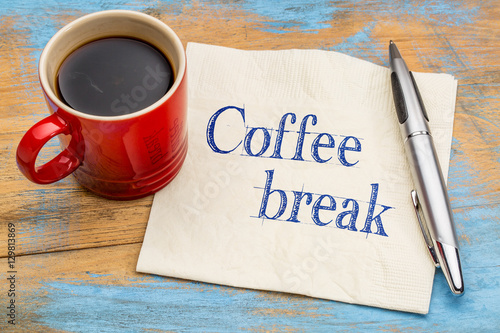 Coffee break napkin concept Canvas Print