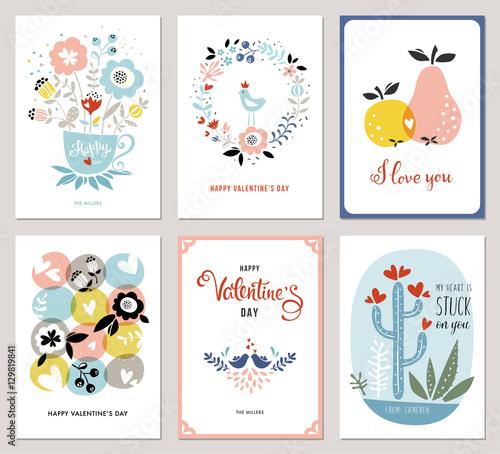Walentynki w stylu skandynawskim. Bukiet, wieniec kwiatowy, jabłko, gruszka, ptaki miłości, kaktusy i serca.