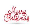 Merry Christmas vector text. Christmas card