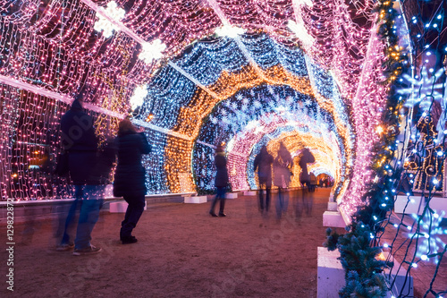 Photo  Winter Christmas festival in Moscow. Russia