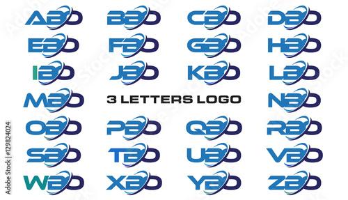 Photo  3 letters modern generic swoosh logo ABO, BBO, CBO, DBO, EBO, FBO, GBO, HBO, IBO