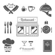 Set of restaurant menu design elements. Vector Illustration.