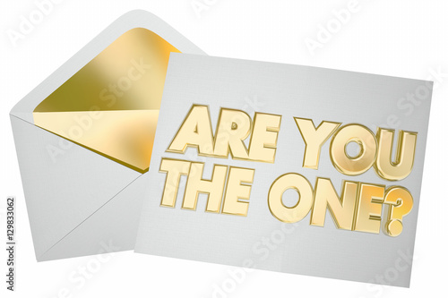 Fotomural Are You the One Question Envelope Message Picked Selected 3d Ill