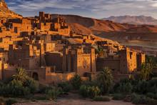 Ait Ben Haddou, Marokko, Kasbah, Unesco Weltkulturerbe, 16.10.2016, Im Hintergrung Der Hohe Atlas