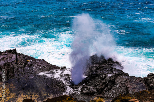 Fotografia, Obraz  Halona Blow Hole Hawaii