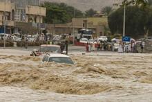 A Flash Flood In The Wadi Thro...
