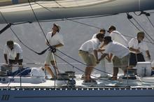 Side View Of Crew Members Work...
