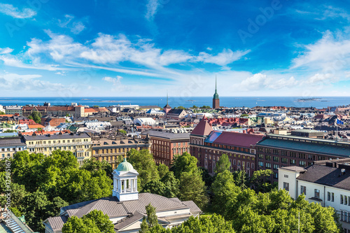 Canvas Print Panoramic view of Helsinki