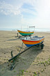 Fishermen boats at the beach