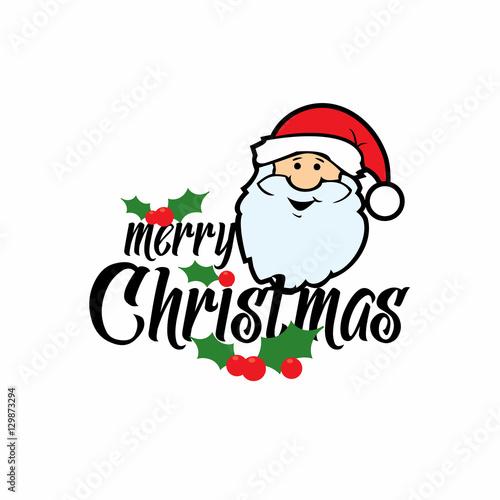 In de dag Retro sign Merry Christmas lettering card