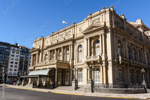 Papiers peints Opera, Theatre Facade of the Teatro Colon in Buenos Aires (Argentina)