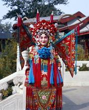 Portrait Of Beijing Opera Performer In Costume, Beijing, China