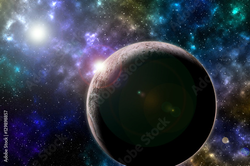 Photo  Star , Planets in distant galaxies. 3D illustration