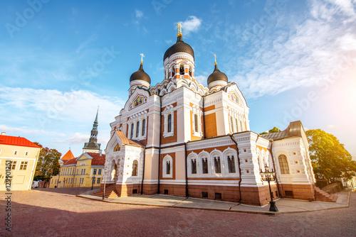 Saint Alexandr Nevsky church in the old town of Tallin, Estonia