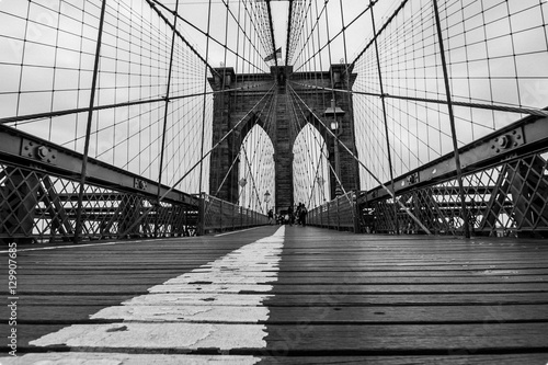Foto auf Gartenposter Brooklyn Bridge ponte di brooklyn