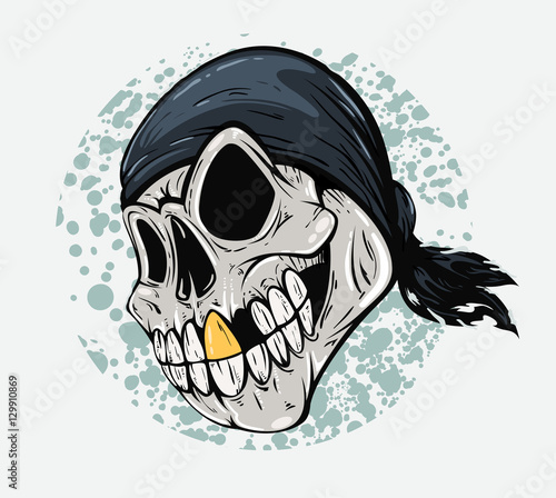 Skull Pirate Closeup With Gold Tooth Buy This Stock Illustration And Explore Similar Illustrations At Adobe Stock Adobe Stock