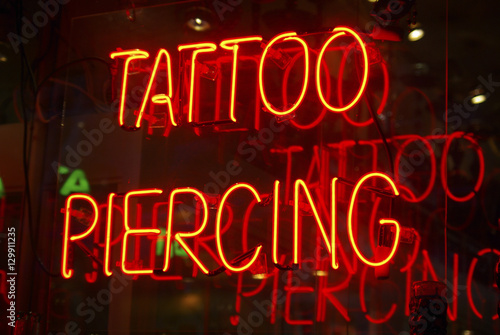 Tattoo parlor neon sign