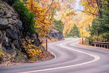 Sequoia National Park Road. California, United States.