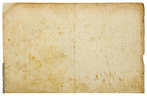 Fototapeta  Vintage torn yellowed paper texture