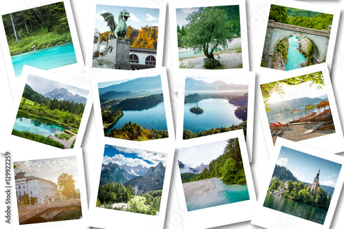 Photo Stands Caribbean Photo collage showing memories from Slovenia