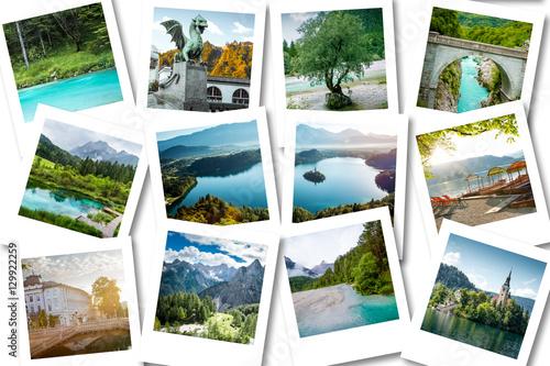 Foto op Plexiglas Caraïben Photo collage showing memories from Slovenia