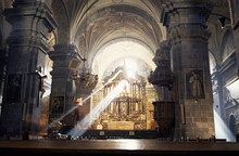 Interior Of The Cathedral, Begun In 1560 On The Site Of The Inca Palace, Cuzco, Peru