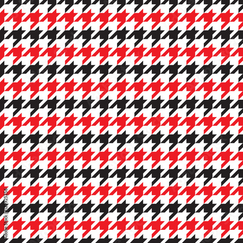 Photo  Seamless houndstooth pattern in red and black. Vector image.