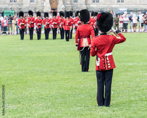 Photo  Soldiers in the Changing of the Guard in Canada